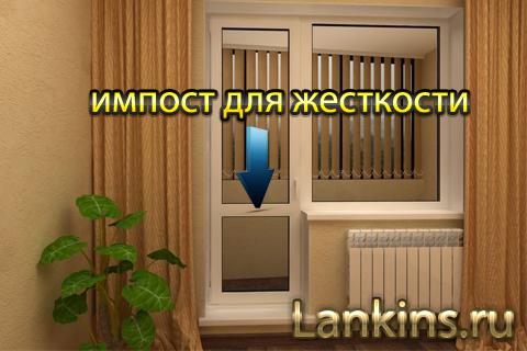 impost-balkonnoj-plastikovoj-dveri-импост-балконной-пластиковой-двери