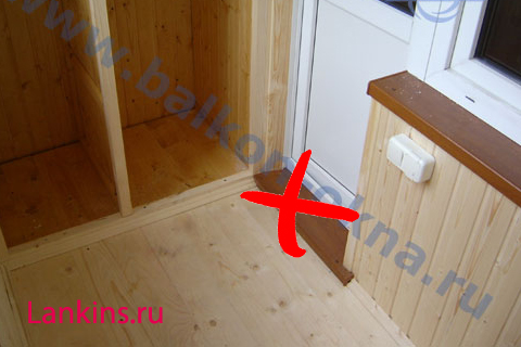 Как установить порог на балкон lankins.ru.